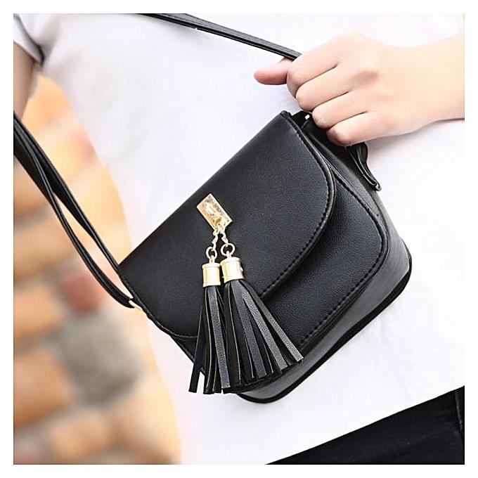 douajso Women Fashion Tassel Handbag Shoulder Bag Large Tote Ladies Purse  BK ... f1bd8b1b2d93b