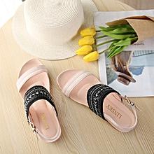 Generic Women Bohemia Slippers Flip Flops Flat Sandals Toe Beach Gladiator Ankle Shoes  A1
