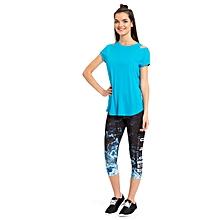 Blue Fashionable Leggings