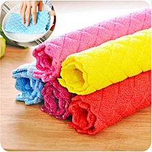 Anti-grease Cloth Bamboo Fiber Washing Towel Magic Kitchen Cleaning Wiping Rags-Random
