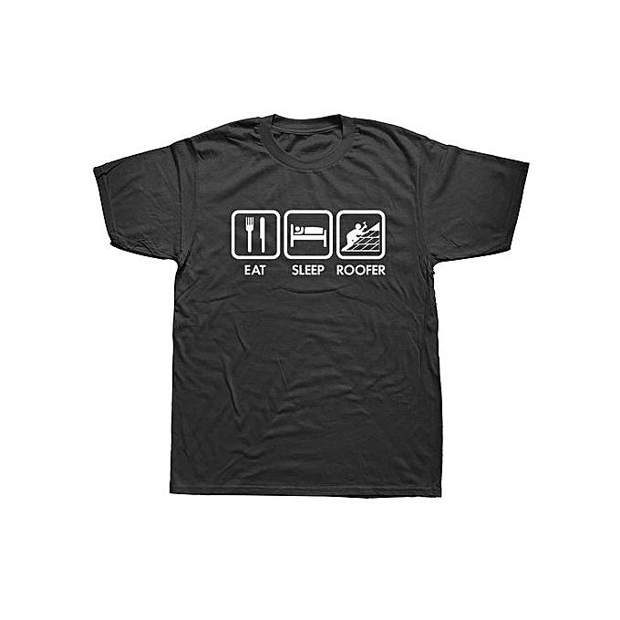 f65aa02f029 Custom Tee Shirts Online Short Sleeve O-Neck Mens Eat Sleep Roofer Tools T  Shirts