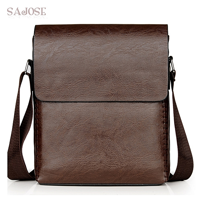 be5f23cad788 Crossbody Bags For Men PU Leather Shoulder Bag Male Casual Simple Knitting  Messenger Bags Men's High Quality Business Hand Bag(YELLOW)