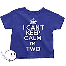Royal Blue Keep Calm T-shirt