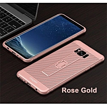 Samsung S8 Phone Cases With Hidden Ring Stand Soft Breathing Cover For Samsung S8 Cases Heat Cooling Case - Rose Gold