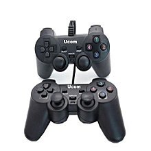 Double - PC USB Dualshock Game Controller Pad - Black.
