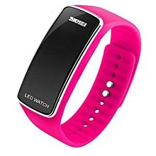 2016 New Fashion Square Dial LED Bracelet Digital Watches For Men&Ladies&Child Clock Womens Wrist Watch Sports Wristwatch Saat(Rose)