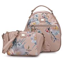2 PIECE Women Floral Crossbody Femal Purse Bag