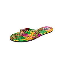 Yellow/ Green Single Strap Sandals