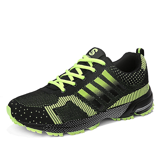 3fa5276d87f Fashion Men S And Women Adidas Flyknit Running Shoes Sneaker Green