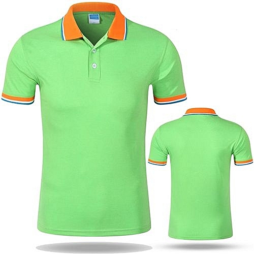 db60dc331 Longo Hot Sale Cotton Men Or Women Available Work Team Traveling Customized  Top Polo Shirts-Light Green