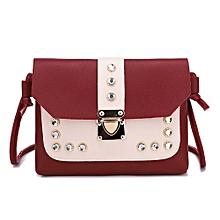 7340024163e7 Women Hit Color Rhinestone Shoulder Bag Messenger Satchel Tote Crossbody Bag
