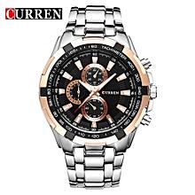 8023 Mens Watches Top Brand Luxury Gold Black Quartz Man Watch Men Military Sport Clock Male Wristwatch