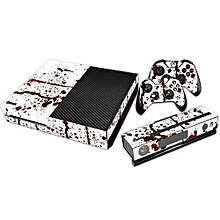 Protective Sticker For Xbox One Console + 2 Controllers Blood Pattern Decal Skin -Multicolor
