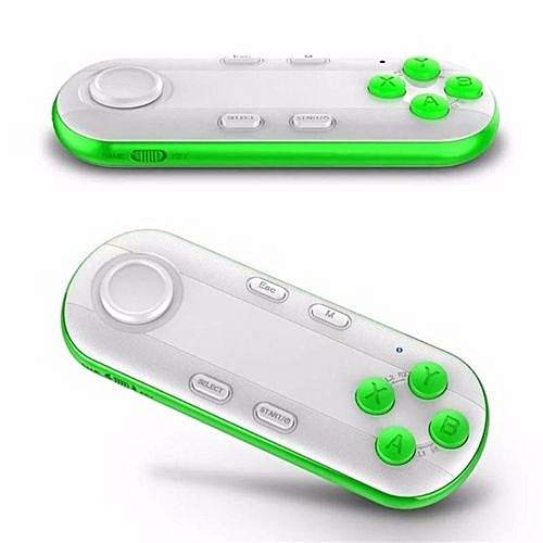 Bluetooth Gamepad IOS Android Gamepad VR Controller Joystick Selfie Shutter  Remote Control For Phone PC TV Box Smart TV(Green)