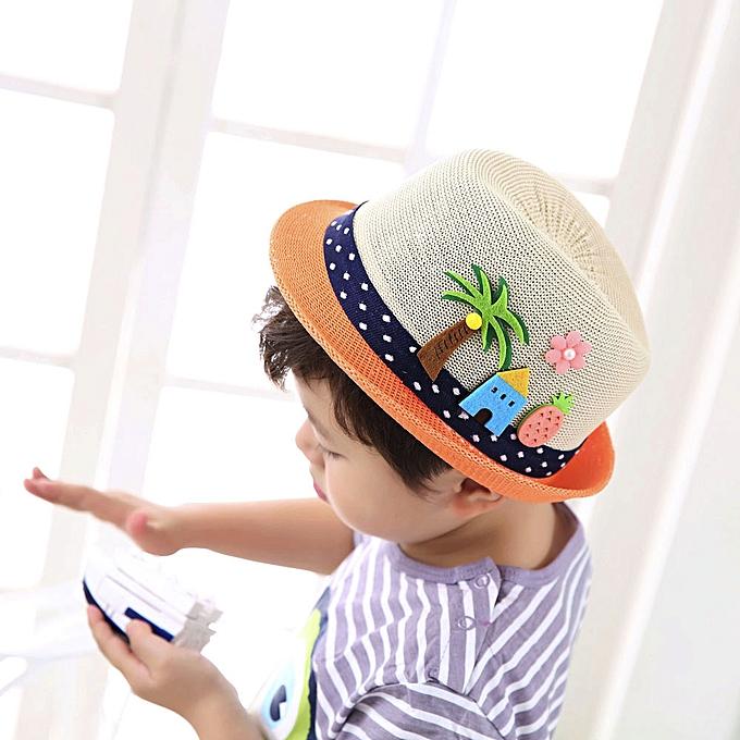 e18c73ab1 Summer Baby Hat Cap Children Breathable Hat Show Kids Hat Boy Girls Hats  Caps-Beige