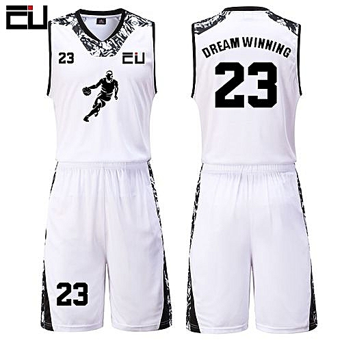 4c50c39f4 Eufy High Quality Men s Customized Team Basketball Sport Jersey Uniform- White(JY-1622)