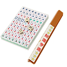 PUZ Mini 144 Mahjong Tile Set Chinese Traditional Game Travel Outdoor Play