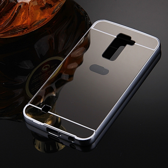 Generic For LG K10 Electroplating Mirror Push Pull PC Protective Case Back Shell Cover + Metal