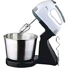 7 Speeds Electric Hand Mixer Dough Mixer with Bowl