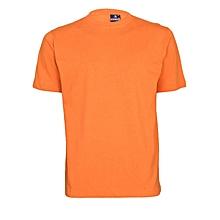Orange Slim Fit Plain T-Shirt