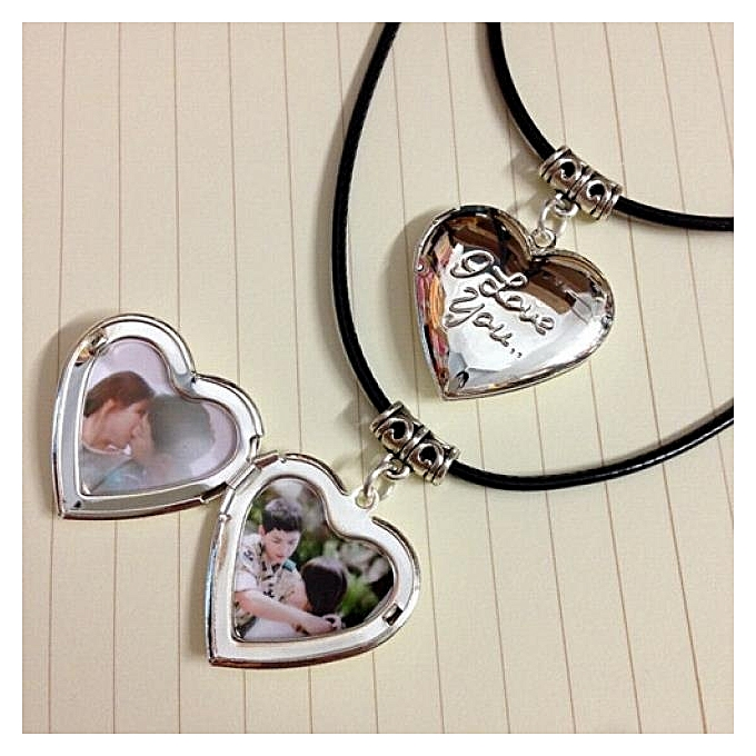 Couple Photo Creative Birthday Gift Girlfriend Diy Heart Shaped Box NecklaceHeart Physiognomy