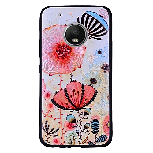 newest collection 08aca 70b1b Motorola Moto G5 Plus Case,Unov with Design Soft TPU Shock Absorption Slim  Embossed Pattern Protective Back Cover for Motorola Moto G5 Plus/Moto G5+  ...