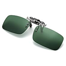 Detachable Night Vision Lens Driving Metal Polarized Clip On Glasses Sunglasses