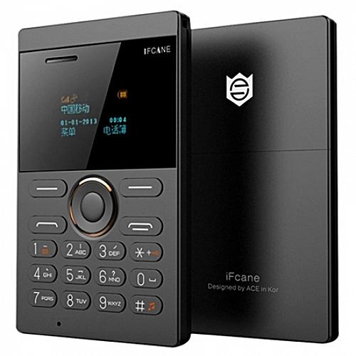 E1 Quad Band Unlocked Mini Card Phone Bluetooth 2.0 MP3 FM Alarm Clock-BLACK