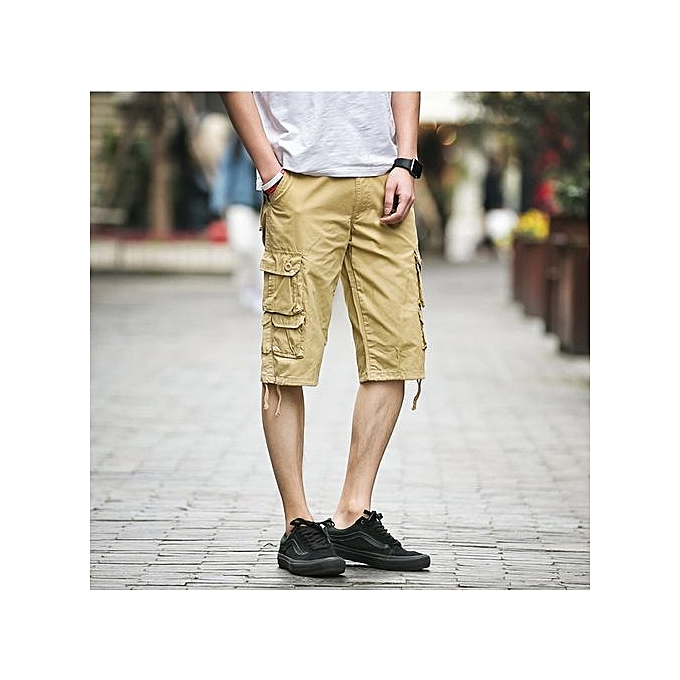 Male Capris Loose Plus Size Tooling Capris Male Casual Capris Summer Capris Beach Pants Men's Clothing