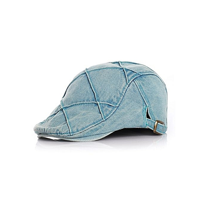 Baby Rhombic Denim Beret Jeans Caps Boy Girls Hat Adjustable - Blue fb331f45bc3