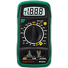 MASTECH MAS830L Mini Handheld LCD Display Digital Multimeter DC Current Tester Backlight Data Hold