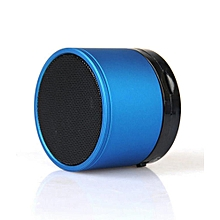Mini Bluetooth Wireless Stereo Speakers FM, Memory Card, Bluetooth, USB - Blue