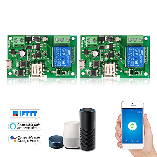 2PCS DC5V 12V 24V 32V Wifi Switch Compatible with Sonoff Wireless Relay  Module Smart Home Automation Modules Phone APP Remote Control Timer Switch