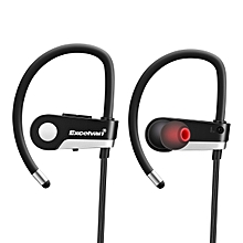 C6 Wireless Headset Earphone Bluetooth Earpiece Sport Running Stereo Earbuds With Microphone - Black + White