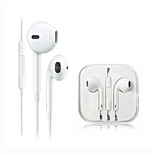 Earphone With Microphone - White
