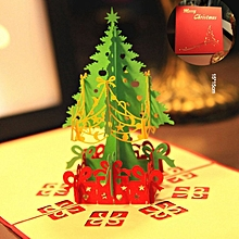 3D Christmas Tree Card Papercraft Pop Up Greeting For red