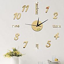 Creative Number Wall Clock Sticker-Gold