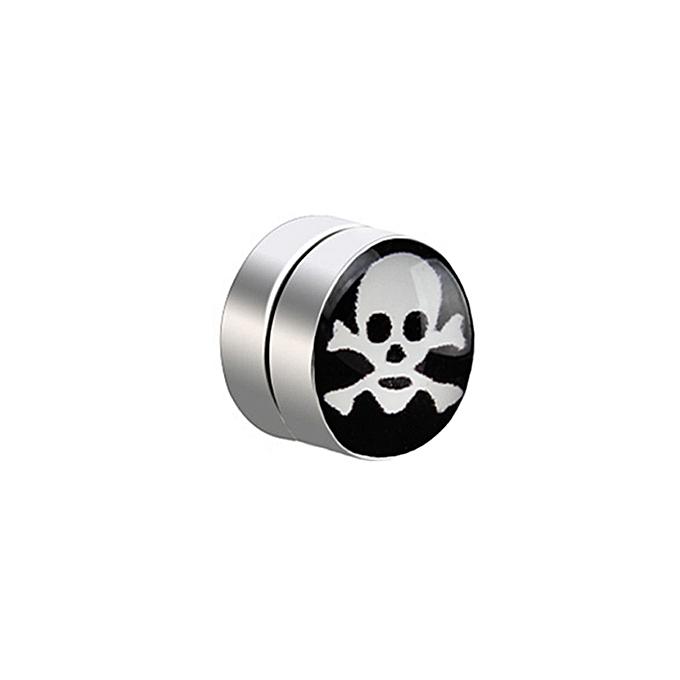 e6636fd8547 1PC Mens Women Non Piercing Ear Stud Clip On Round Magnetic Earrings C-Black