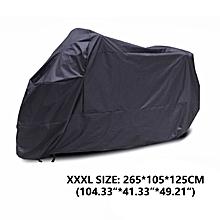 Motorcycle Cover Sun Rain Protector Waterproof Black XXXL Outdoor All Weather