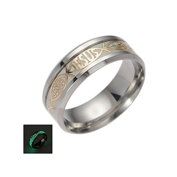 Buy Fashion Tanson Titanium Steel Womens Mens Luminated Rings