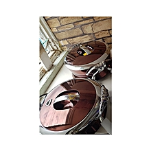 3PCs Food Warmer with Stainless Steel Interior - Coffee Brown