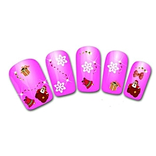Women's Christmas 3D nails Water Transfer Stickers Finger