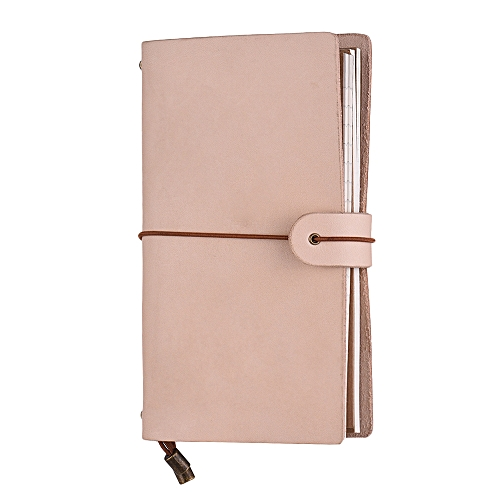 Generic Refillable Leather Journal Travel Notebook Diary Business Notepad  Card Holder Lined Blank Grid Paper with Elastic Strap for Men   Women  Writing d1d36f282