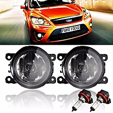 2Pcs H11 Car Auto Fog Light 55W Fog Lamps Assembly For 07/08/09/10/12/13/14 Ford/Focus W/ Amber Yellow