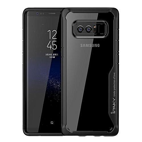 premium selection a926e 76e85 Galaxy Note 8 Cover- Rubberized - Clear Case - Black