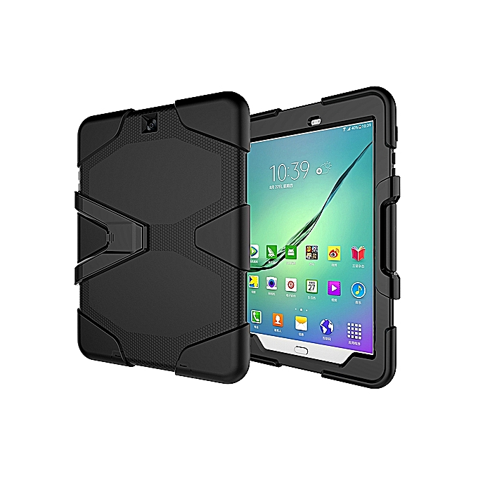 huge selection of f0266 414e0 Samsung Galaxy Tab S2 9.7 Case Three Layer Shockproof Heavy Duty Soft TPU  Hard PC Case With Stand Kickstand Scratch Resistant Cover For Samsung  Galaxy ...
