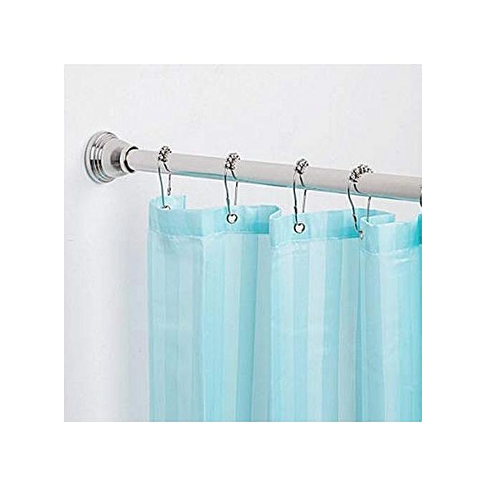 18 Piece Set Rustproof Shower Curtain Rings Hooks For Bathroom Rod