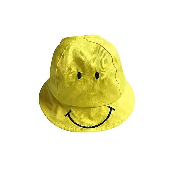 fd285ec9297 Braveayong Baby Kids Cute Smiling Face Hat Boys Girls Spring Summer Sun Hat  Fisherman Cap S