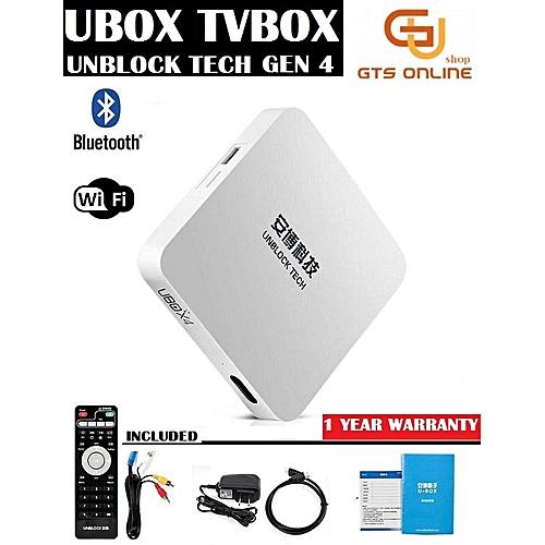UBOX Unblock Tech Gen 4 S900 16G Pro BT IPTV (Bluetooth Version) Ubox 4  Ubox4 (Unblock Tech ) (Not Specified) YCMI-A