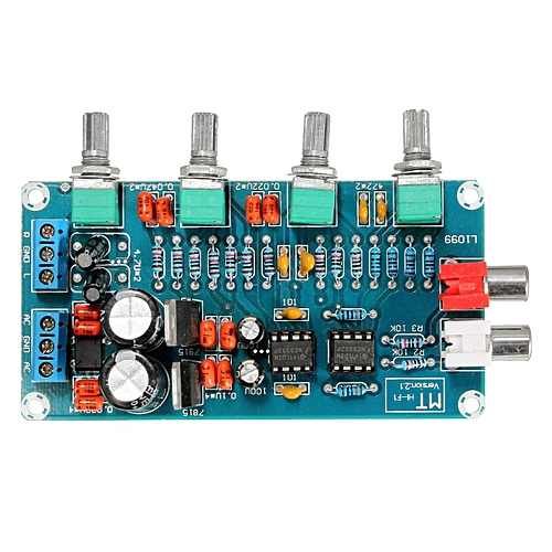 Details about NE5532 OP-AMP HIFI Amplifier Preamplifier Volume Tone EQ  Control Board DIY Kits